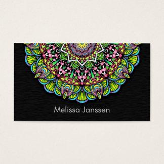Flor colorida - Mandala Tarjeta De Negocios