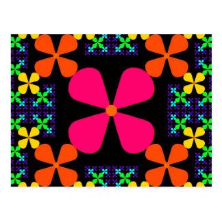 ¡Flor Colorsplosion del fractal! Postal