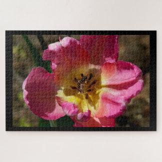 Flor con Hoverfly, rompecabezas de la foto