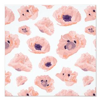 Flor de amapola tarjeta de invitación lachs/lila