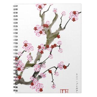 Flor de cerezo 16 Tony Fernandes Cuaderno