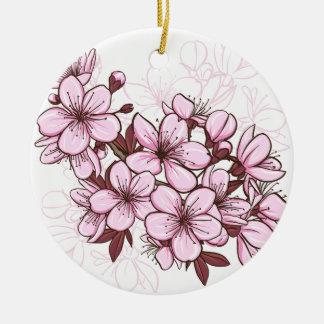Flor de cerezo ornamento para reyes magos