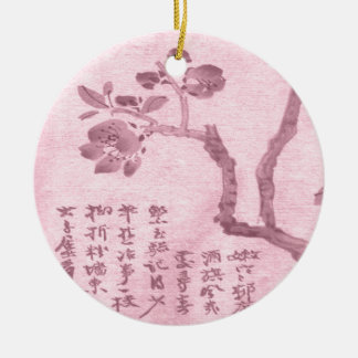 Flor de cerezo ornamento para arbol de navidad