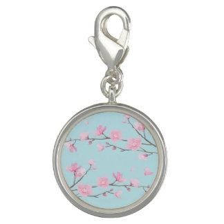 Flor de cerezo - azul de cielo dije con foto