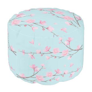 Flor de cerezo - azul de cielo pouf