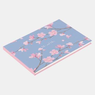 Flor de cerezo - azul de la serenidad libro de visitas