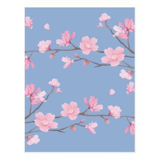 Flor de cerezo - azul de la serenidad postal