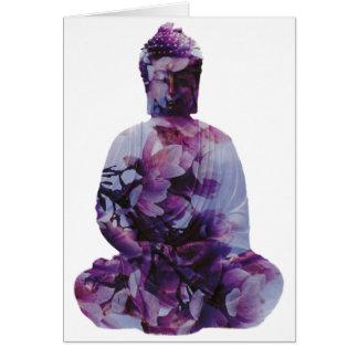 Flor de cerezo Buda Tarjeta De Felicitación