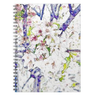 Flor de cerezo cuaderno