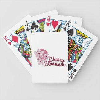 Flor de cerezo de la flor de cerezo barajas de cartas