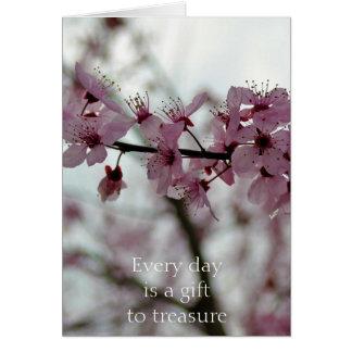 Flor de cerezo de la primavera floral tarjeta