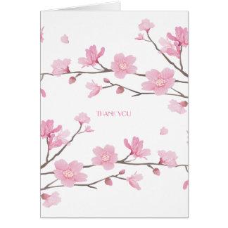Flor de cerezo - el blanco Fondo-LE AGRADECE Tarjeta