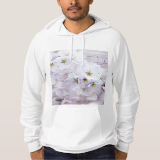 Flor de cerezo elegante blanca sudadera