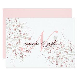 Flor de cerezo elegante, casando la invitación