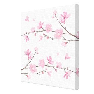 Flor de cerezo - fondo transparente lienzo
