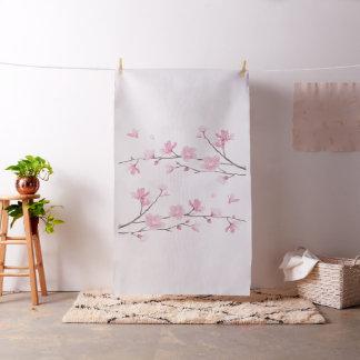 Flor de cerezo - fondo transparente tela