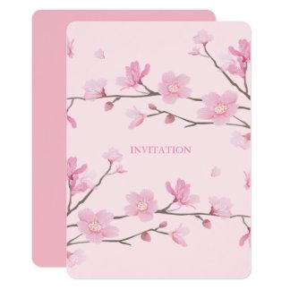 Flor de cerezo invitación 12,7 x 17,8 cm