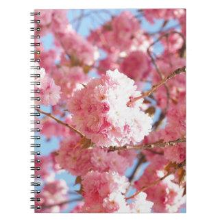 Flor de cerezo japonesa rosada cuaderno