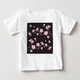 Flor de cerezo - negro camiseta de bebé