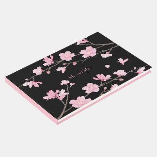 Flor de cerezo - negro libro de visitas