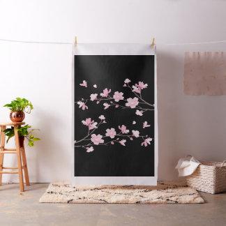 Flor de cerezo - negro tela
