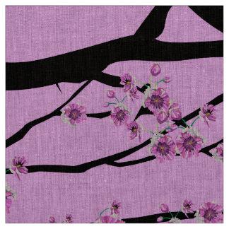 Flor de cerezo púrpura Sakura Tela