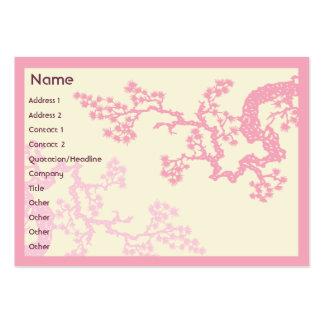 Flor de cerezo - rechoncha tarjetas de visita grandes