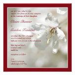 Flor de cerezo roja que casa Invitiation Comunicado Personalizado