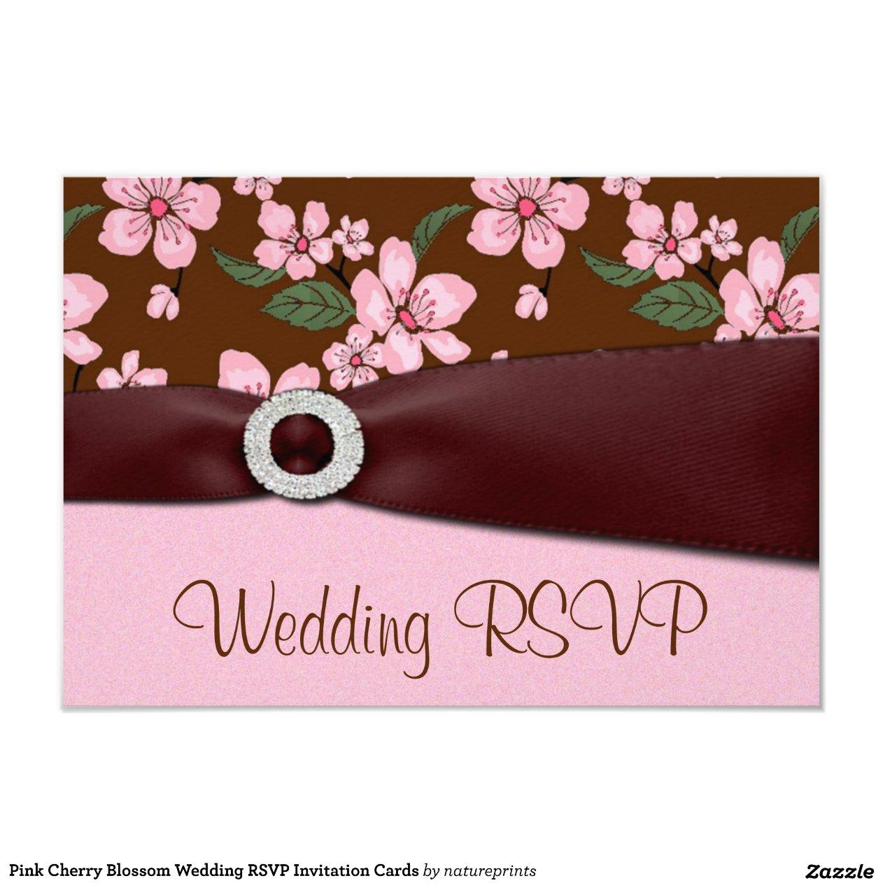 Flor de cerezo rosada que casa tarjetas de la invitaci n 8 for Diseno de casa de 9 x 12