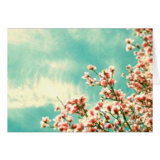 Flor de cerezo tarjeta pequeña