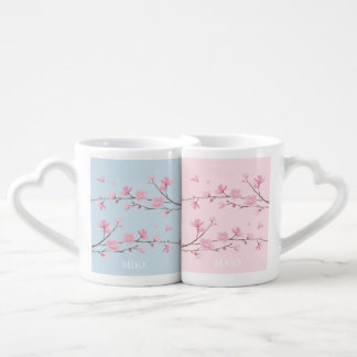 Flor de cerezo - transparente - boda set de tazas de café