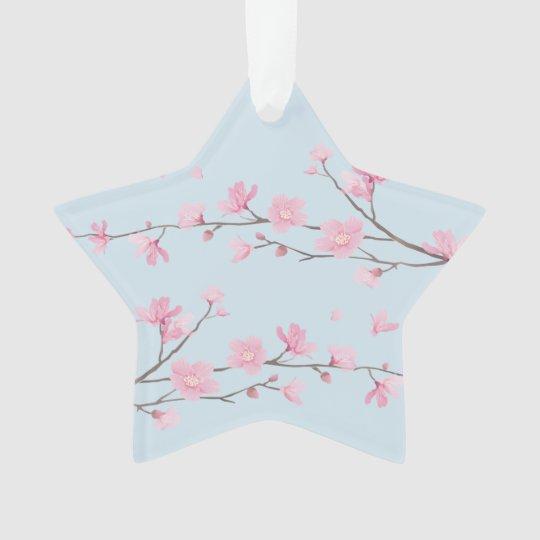 Flor de cerezo - transparente - FELIZ CUMPLEAÑOS Adorno