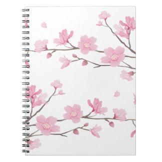 Flor de cerezo - Transparente-Fondo Cuaderno
