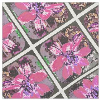 Flor de color de malva abstracta de la dalia telas