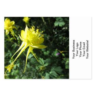 Flor de Columbine Tarjetas De Visita Grandes