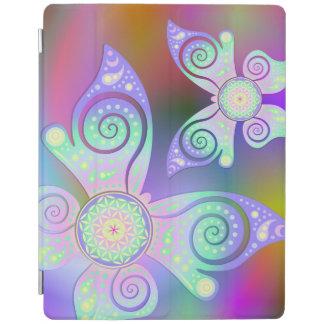 Flor de DES Lebens - mariposa de la vida/de Blume Cover De iPad