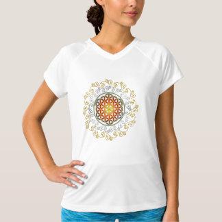 Flor de DES Lebens - ornamento IV de la vida/de Camiseta