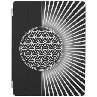 Flor de DES Lebens - plano blanco de la vida/de Cover De iPad
