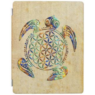 Flor de DES Lebens - tortuga de la vida/de Blume Cubierta De iPad