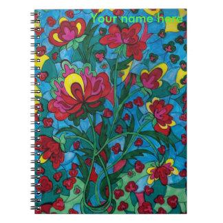 Flor de Dreamscape 7 en cuaderno del florero
