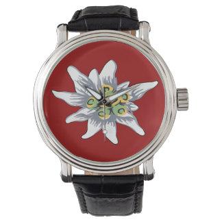 Flor de Edelweiss Relojes De Mano
