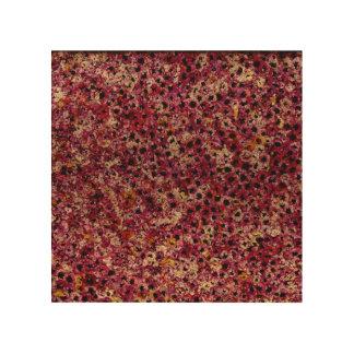 """Flor de Eden en la madera 8"""" X 8"""" Impresión En Madera"""