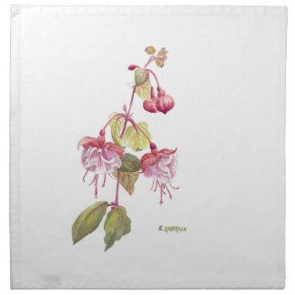 Flor de Fushia Servilleta De Tela