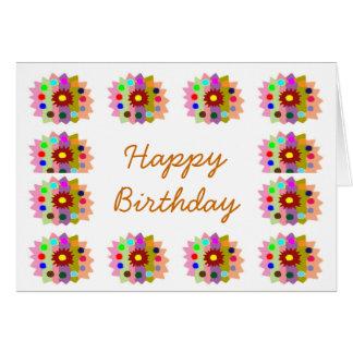 Flor de HappyDance: Feliz cumpleaños de Tarjeta De Felicitación