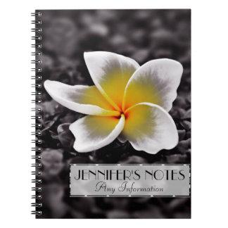 Flor de Hawaii del Frangipani del Plumeria Cuaderno