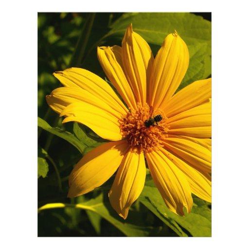 Flor de la abeja tarjeta publicitaria