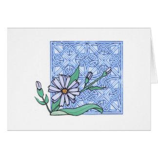 Flor de la achicoria, tarjeta