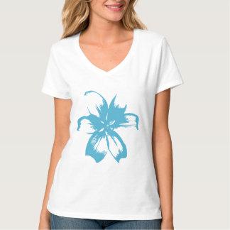 Flor de la aguamarina camiseta