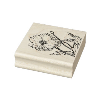 Flor de la amapola para toda su primavera que sello de caucho