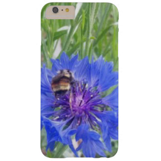 Flor de la caja del teléfono y una abeja funda barely there iPhone 6 plus